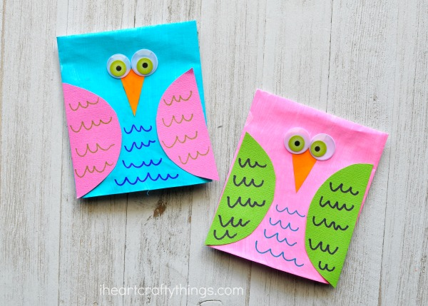 adorable envelope owl craft puppets i heart crafty things