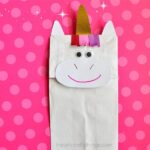 Bring the imaginary magic home by making this simple, fun and colorful paper bag unicorn craft with your kids. Great preschool craft.