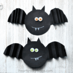 Simple Accordion Fold Paper Bat Craft