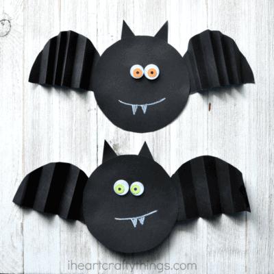 Simple Accordion Fold Paper Bat Craft