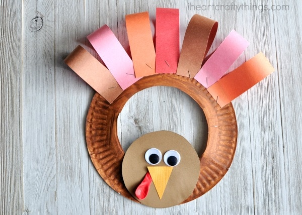 paper-plate-turkey-wreath-3