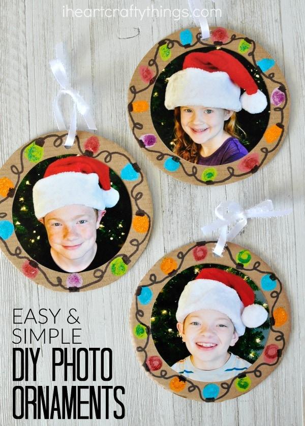 Easy Diy Christmas Photo Ornaments I Heart Crafty Things