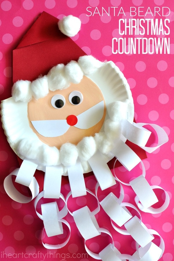 Santa Beard Christmas Countdown Craft I Heart Crafty Things