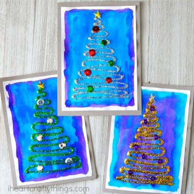 Glittery Christmas Tree Craft
