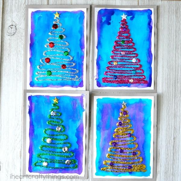 glittery-christmas-tree-craft-5