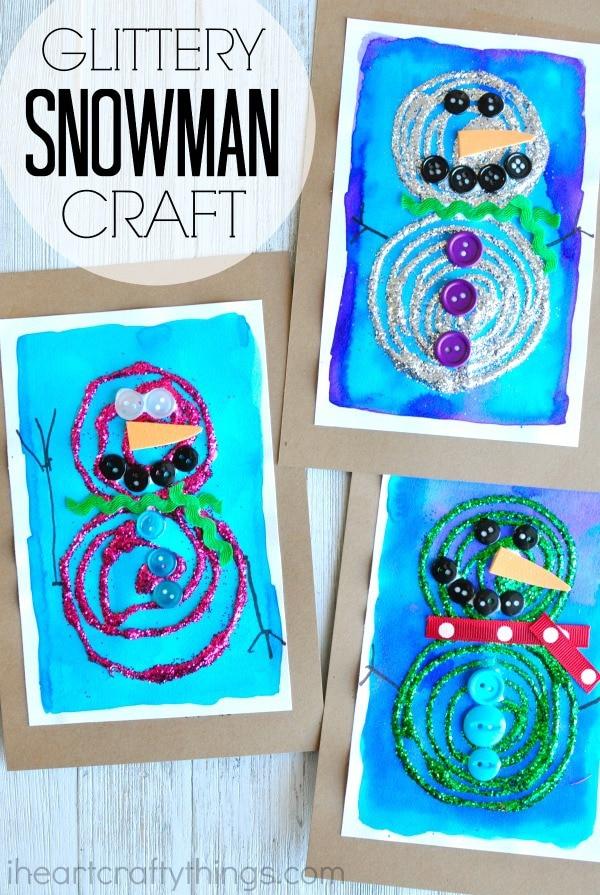 glittery-snowman-craft-pin