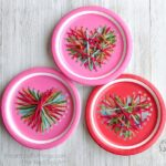 This paper plate heart sewing craft is simple to make and adaptable for kids of all ages. Fun Valentine's Day craft for kids and heart craft.