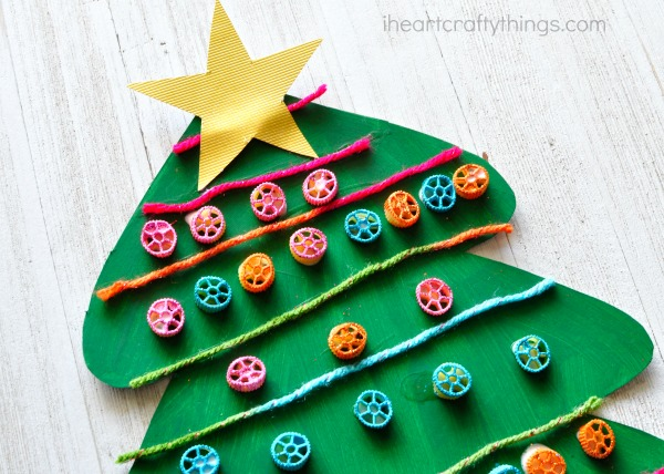 pasta-christmas-tree-craft-9