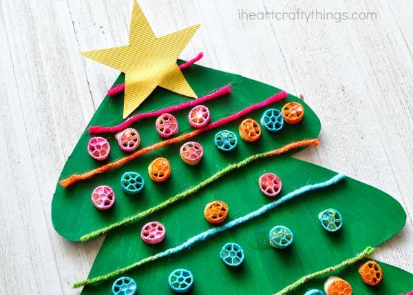 pasta-christmas-tree-craft-9