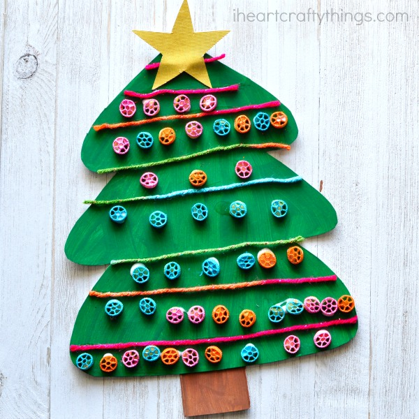 pasta-christmas-tree-craft