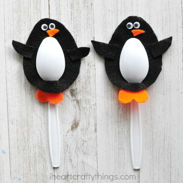 Plastic Spoon Penguin Craft