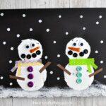 Book Inspired Snowmen at Night Craft