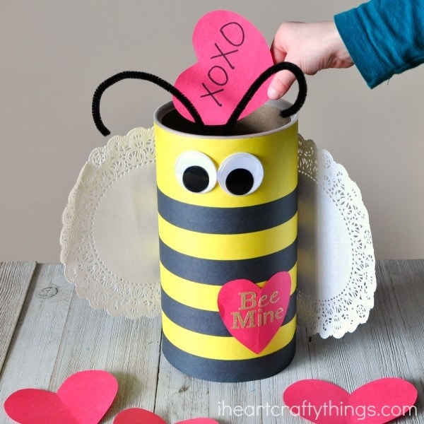 How To Make A Bee Valentine Box I Heart Crafty Things