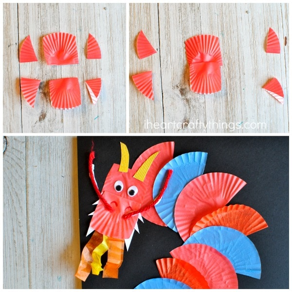 Awesome Cupcake Liner Dragon Craft I Heart Crafty Things