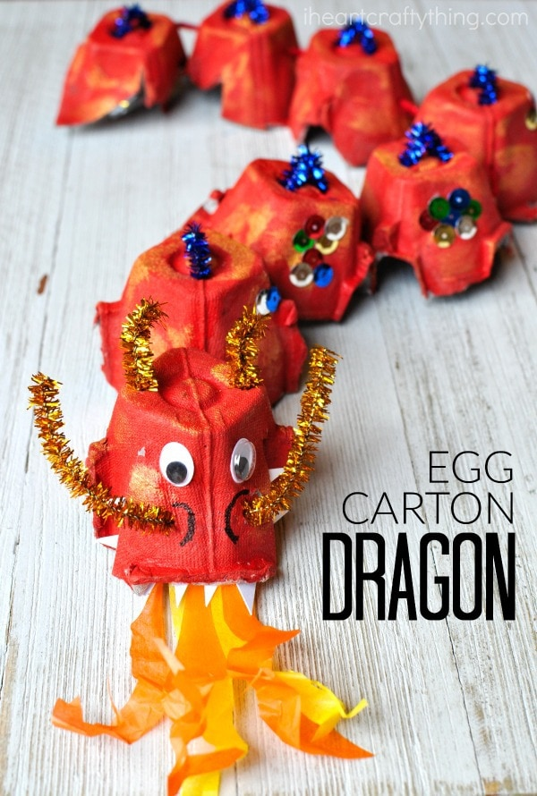 How To Make An Egg Carton Dragon Craft