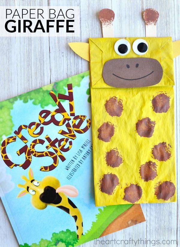 Adorable Paper Bag Giraffe Craft I Heart Crafty Things