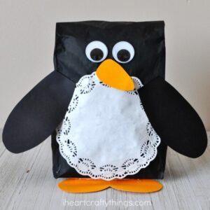 Super Cute Stuffed Paper Bag Penguin Craft