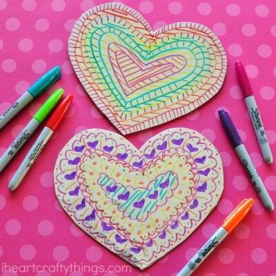 Tin Foil Heart Valentine's Day Craft