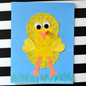 Cute and Simple Doily Chick Craft