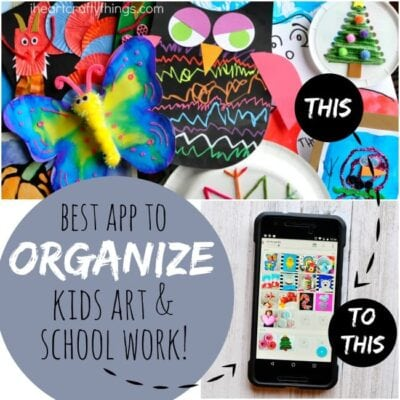 How to Organize Kids Artwork and School Work