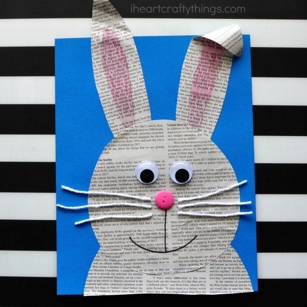 Looking for a cute Easter craft for kids? This super cute newspaper bunny craft is an easy kids craft and cute preschool kids craft.