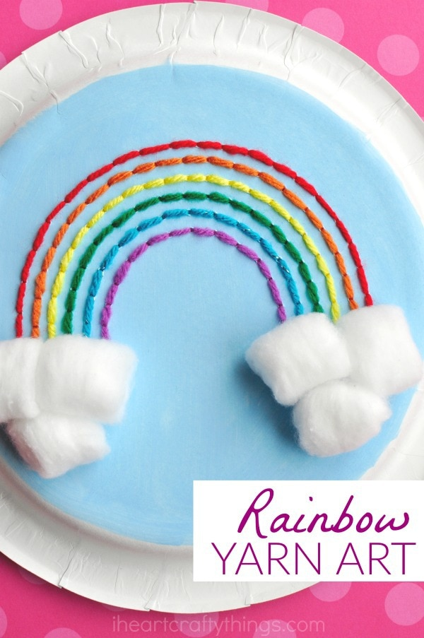 Looking for a cute book that would go along perfectly with this paper plate rainbow yarn art craft?  sc 1 st  I Heart Crafty Things & Paper Plate Rainbow Yarn Art Craft | I Heart Crafty Things