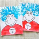 The coolest Thing One and Thing Two craft for kids! Great Dr. Seuss Craft for Read Across America Day for preschoolers and toddlers.