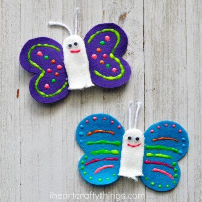 Cute Butterfly Finger Puppets