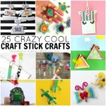 25 Crazy cool craft stick crafts for kids that they will love. Popsicle stick crafts, mini craft stick crafts, jumbo craft stick crafts and fun kids crafts.