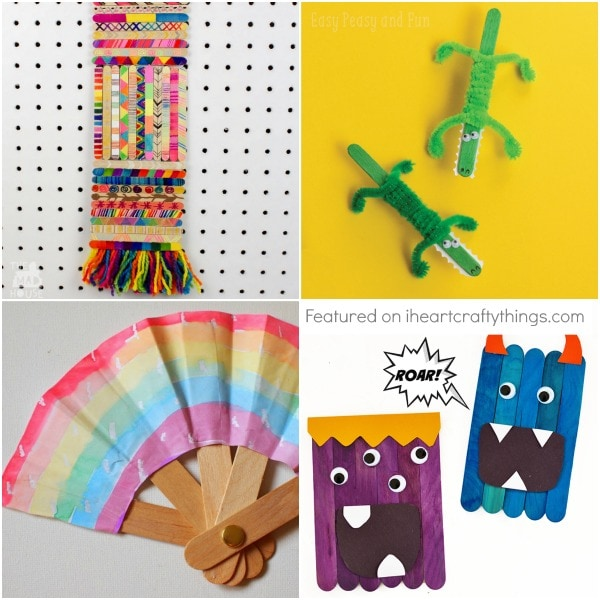 25 crazy cool craft stick crafts for kids i heart crafty things