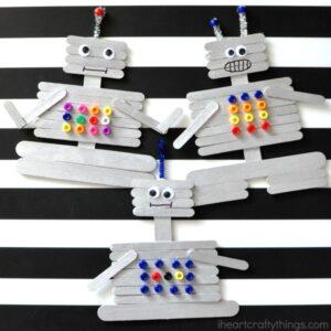 Creative Craft Stick Robot Craft