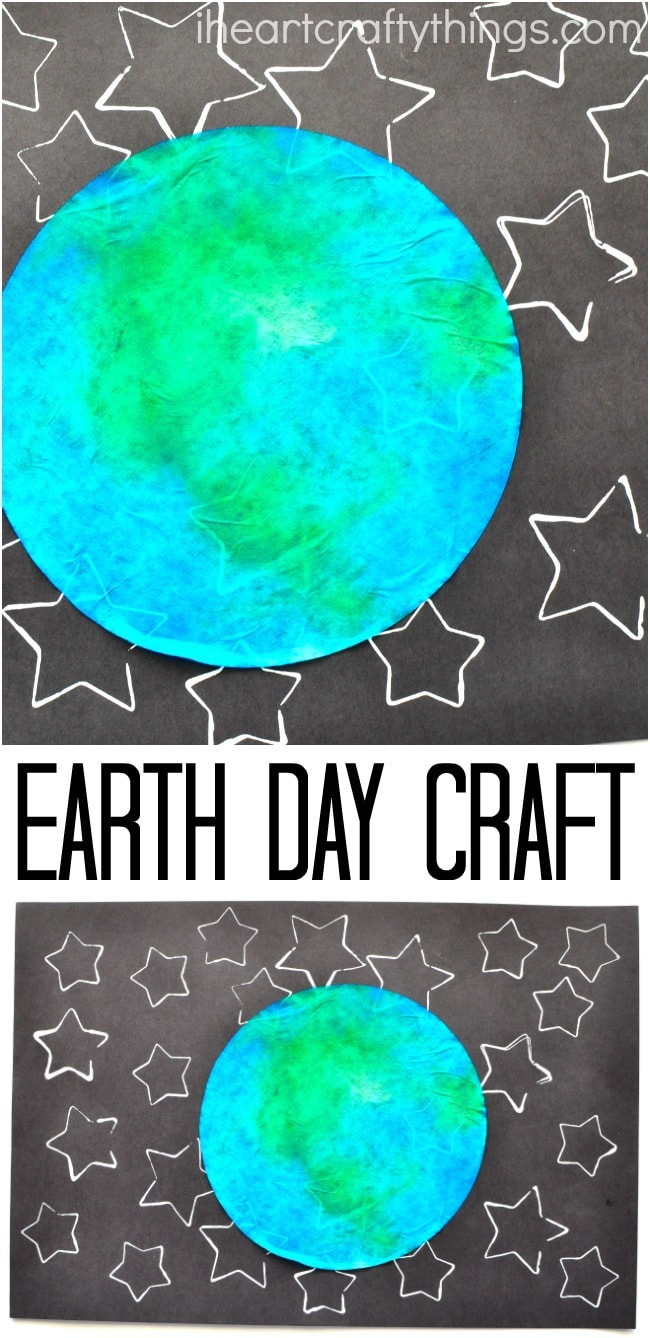 star stamped earth day craft i heart crafty things