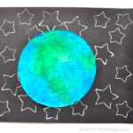 Here is a simple and fun star stamped Earth Day Craft perfect for a preschool kids craft, solar system craft for kids and Earth craft.