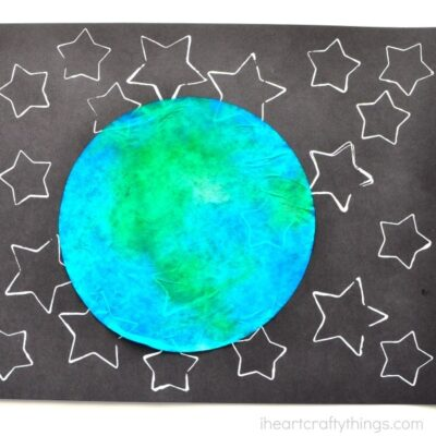Star Stamped Earth Day Craft