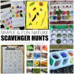 Spring Nature Scavenger Hunts for Kids