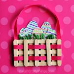 Craft Sticks Mini Easter Basket Craft