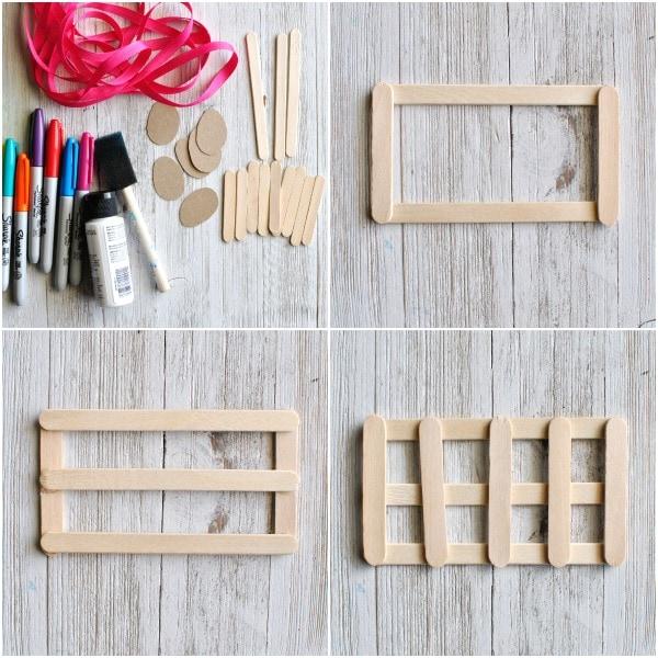 Craft Sticks Mini Easter Basket Craft