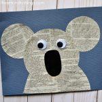 Cute Newspaper Koala Craft