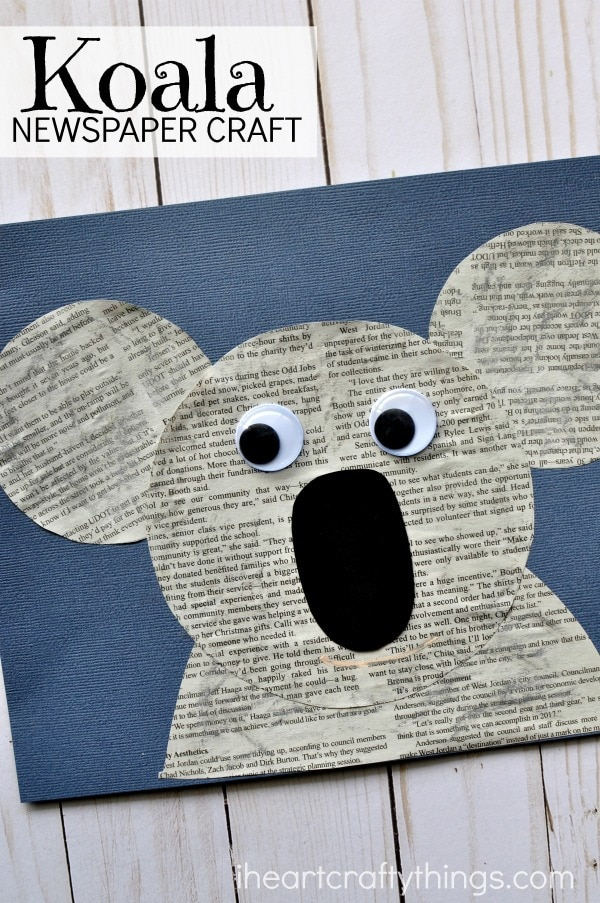 how to make a paper koala