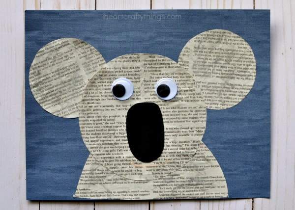 3 To Give Your Koala Some Extra Texture Use A Gray Oil Pastel Color In Of The Space On You Can Fingers Or Cotton Ball