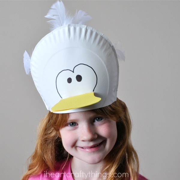 Let any glue dry before playing with your hat.  sc 1 st  I Heart Crafty Things & Silly Paper Plate Bird Hats Your Kids will Love | I Heart Crafty Things