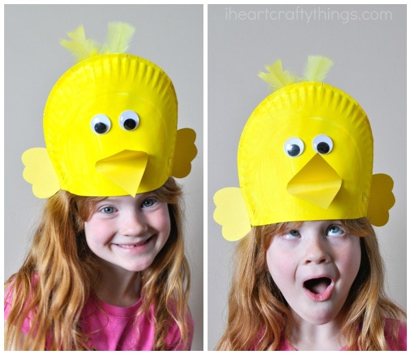 What kind of silly features would you give your paper plate bird hats?  sc 1 st  I Heart Crafty Things & Silly Paper Plate Bird Hats Your Kids will Love | I Heart Crafty Things