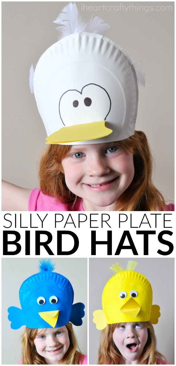 Looking for more spring bird fun?  sc 1 st  I Heart Crafty Things & Silly Paper Plate Bird Hats Your Kids will Love | I Heart Crafty Things