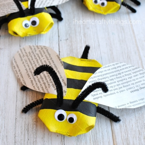 make sure to check out more insect crafts made from recyclable materials at the end of this post