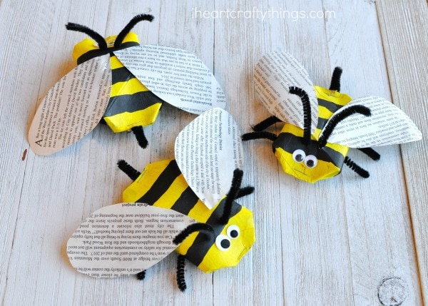 Recycled Bee Craft on Ladybug Fun