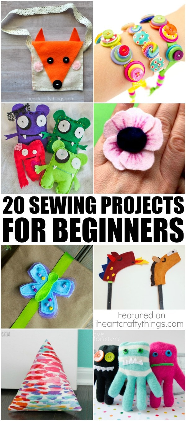 20 sewing projects for beginners i heart crafty things for Diy crafts for beginners