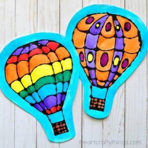 Black Glue Hot Air Balloon Craft