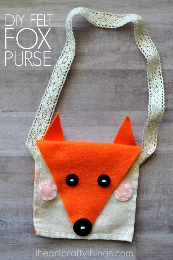 Diy felt fox purse kids sewing craft i heart crafty things for Craft patterns to sew