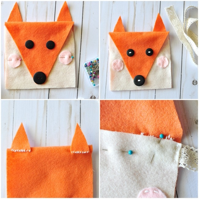 Sewing Projects for Kids to Do in Summertime - Felt Fox Purse