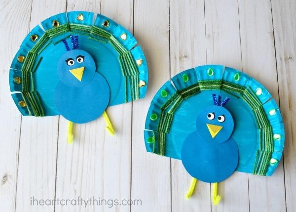 peacock craft ideas for kids yarn weaved paper plate peacock craft i crafty things 7033